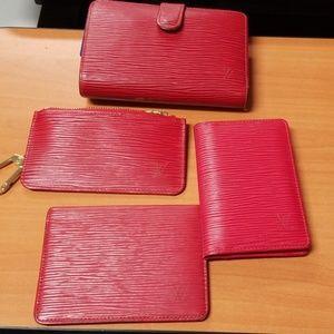 Authentic Louis Vuitton Red Epi lot